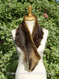 Goatskin and Shearling Scarf 39 inch